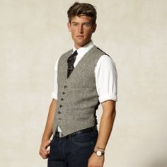 Ralph Lauren.  I just love their classic style.  Also, vests are incredibly sexy, in my opinion.