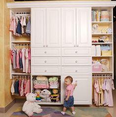 Nuestros bebes: Decoración: Closets para el cuarto del bebe