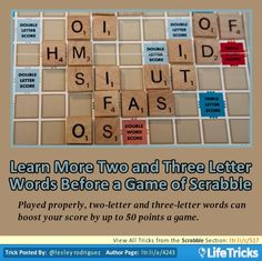 Scrabble - Learn More Two and Three Letter Words Before a Game of Scrabble
