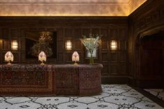 Martin Brudnizki converts New York office building to create Beekman Hotel Lobby Reception, Reception Desks, Best Interior Design Websites, New York Office, Hotel Carpet, Joinery Details, Beste Hotels, New York Hotels, Bar Interior