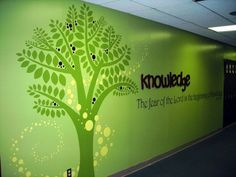 The Children's Ministry Department at Calvary Baptist Church & Day School wanted to brighten up their dreary hallway and illustrate the core values of knowledge, trust and friendship to their students. I worked up some designs for them and soon discovered…