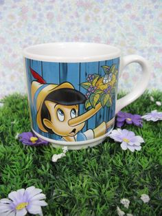 Pinocchio Mug  Pinocchio Collectible  by MissieMooVintageRoom