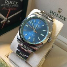 Another beauty from our #Preowned stable!  The Rolex Milgauss 'Glace verte'