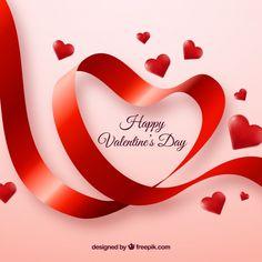 Cute valentine background of ribbon Free Vector Valentines Day Teddy Bear, Happy Valentine Day Quotes, Valentine Day Crafts, Happy Mothers Day, Birthday Greetings, Birthday Wishes, Valentine Poster, Valentine Background, Wedding Stage Decorations
