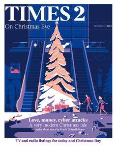 Illustrations, Christmas Issue of Times (UK) - Tim Haugomat via: Behance