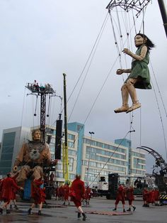 An estimated 600,000 people watched the three-day event, named Sea Odyssey and staged by Royal de Luxe. (BBC)