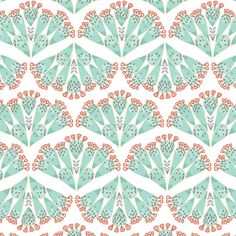 """Succulent Prickly Pear Changing Pad Cover by Primal Vogue™ - 32"""" x 16"""" x 4"""" - Teal, Ivory, Coral, Grey - 100% Cotton - Hawthorne Threads"""