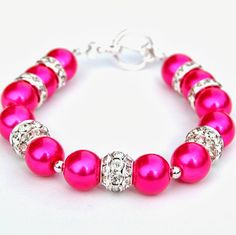 Cute pink and sparkly bracelet.