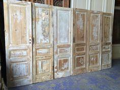 nr. 479a serie geloogde sets antieke deuren (ook voor kastenwand)