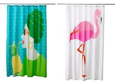 New IKEA shower curtains.