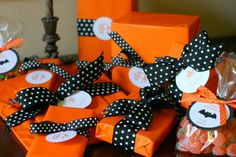 Fall treat wrapping ideas