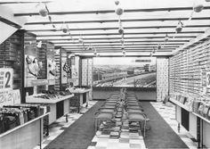 bata workington interior shoe shop c1960
