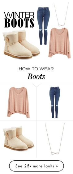 """winter boots"" by ingeborgxx16 on Polyvore featuring UGG Australia and MANGO"