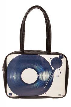 #bag #hold-all #retro #vintage #woman #accessory #vinyl #vinylrecord