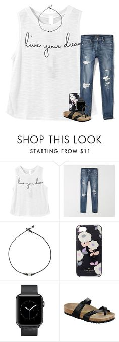 """I kinda give a damn, I kinda don't care "" by preppymilitarybrat ❤ liked on Polyvore featuring Abercrombie & Fitch, Kate Spade, Birkenstock and Sydney Evan"