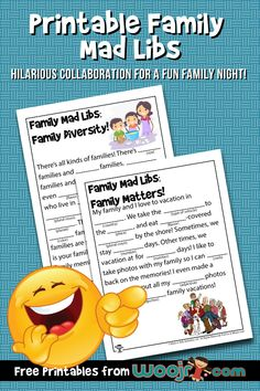 Printable Family Mad Libs | Woo! Jr. Kids Activities