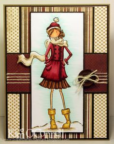 """Paper Perfect Designs by Kim O'Connell: Stamping Bella """"Uptown Girl Quinn in her Boots"""" stamp set"""