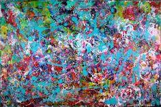 """Saatchi Art Artist Nestor Toro; Painting, """"Neon Intrusion"""" #art #saatchiart #abstract"""