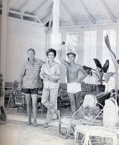 Bill and Babe Paley, with Truman Capote, Round Hill Jamaica, 1959.