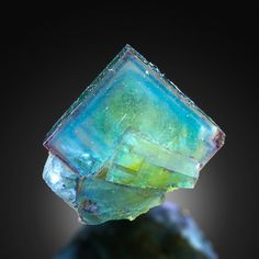 Fluorite, France (also in aqua) Minerals And Gemstones, Rocks And Minerals, Motifs Organiques, Rare Gems, Mineral Stone, Rocks And Gems, Healing Stones, Stones And Crystals, Gem Stones