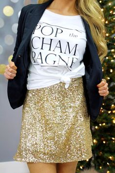 Pop the Champagne Graphic Tee   UOIOnline.com: Women's Clothing Boutique
