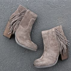 sbicca marimba suede ankle boots with fringe