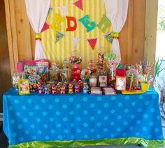 birthday candy buffet