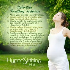 #Hypnobirthinghub Relaxation Breathing Technique #Hypnobirthing #Tips