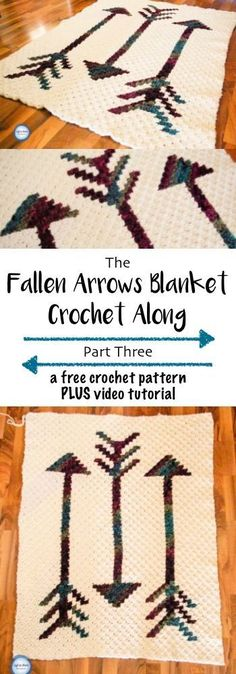 Crochet Fallen Arrows Blanket CAL: Part Three This FREE crochet blanket is modern and simple. Constructed with the stitch, this pattern will be posted in a CAL style throughout the month of February. Video tutorials, photo tutorials, pixel charts and w Crochet Afghans, Crochet Baby Poncho, Crochet Fall, Crochet Gloves, Free Crochet, Simple Crochet, Modern Crochet, Crochet Blankets, C2c Crochet Blanket