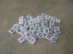 Classroom DIY: DIY Letter and Number Tiles, these could be good with integers or fractions/decimals/percents for practice