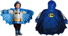 Batman Kid's Raincoat by Think Geek Kids and adults alike will oggle at this kid's Batman raincoat. The perfect attire for all t...