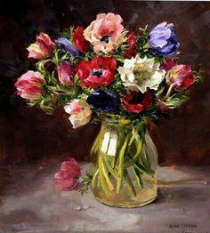 8cb87b6dd16d Tableau Fleurs, Peinture Fleurs, Exposition, Artistes De Fleurs, Art Nature  Morte,