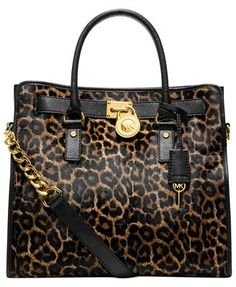 MICHAEL KORS Large Tote in Leopard print