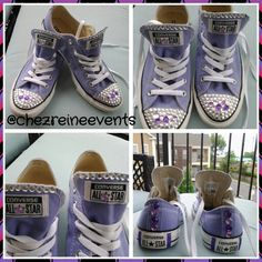 Blinged out Converse