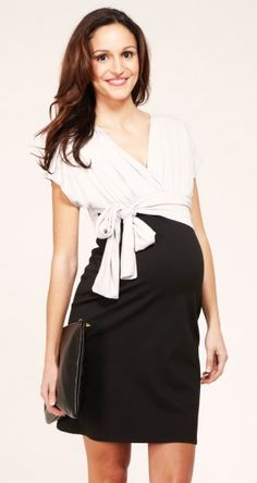 This looks a lot like a 'Modern' pattern Motherhood Maternity carries in black and in prints for about $35.