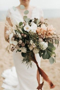 This Couple Fell in Love with the Historic Charm of Spencer-Peirce-Little Farm and You Will Too We are obsessing over this earthy overgrown bridal bouquet Bridal Bouquet Fall, Fall Bouquets, Fall Wedding Bouquets, Fall Wedding Flowers, Fall Wedding Colors, Bride Bouquets, Flower Bouquet Wedding, Floral Wedding, Wedding Day