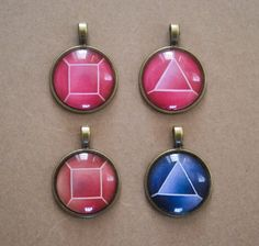 Steven Universe Cabochon Necklaces (Garnet, Ruby and Saphire)