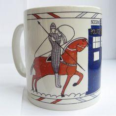 Tardis Bayeux Tapestry Doctor Who Mug
