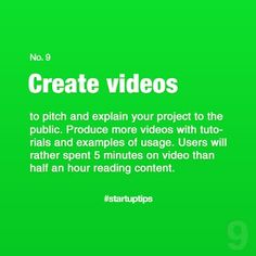 Start-Up Tips no. 9 Create videos