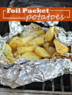 Easy Foil Packet Potatoes on the Grill (Great Recipe Idea for Camping/Tailgating) recipes sides foil packets Easy Foil Packet Potatoes on the Grill (Great Recipe Idea for Camping/Tailgating) - Campfire Potatoes, Bbq Potatoes, Potatoes On The Grill, Foil Packet Potatoes Grill, Potato Recipe For Grill, Grilled Foil Potatoes, Roasted Potatoes On Grill, Potato Foil Packets, Grilled Potato Recipes