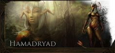 Hamadryads are something between plants, insects and humans. They are part of Tuatha De Danann Realm of Camelot - one of three factions in war with each other.