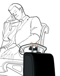 Secure Suitcase Designs : Luggage Sitter