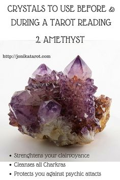 #Crystals to use before and during a #tarot reading. Http://jonikatarot.com