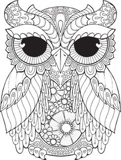 Kurby Owl - Colour with Me HELLO ANGEL - coloring, design, detailed, meditation, coloring for grown ups, owl, cute colouring for kids: