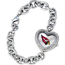 Don't wear your heart on your sleeve, wear it on your wrist.  Arizona Cardinals Heart watch.  I definitely need this before opening day.