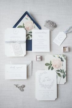 Grey and Blush Vintage Floral Wedding Invitation Suite with Navy Envelopes  #wedding #weddinginvitations #invitation #vintagewedding #gardenwedding #formalwedding #weddingideas #weddinginspiration #weddinginvites #navybluewedding #navyblueinvitation #envelopeliner
