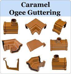 Virtual Plastics Ltd. Caramel Ogee Guttering range from £2.39