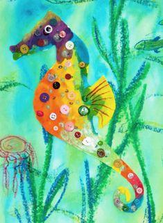 Creatief met knopen en knoopjes - knutseltips | knoopjes | knutselen | knopen | De Knutseljuf Ede Diy And Crafts, Fish, Pets, Animals, Animaux, Animal, Animales, Ichthys, Animais