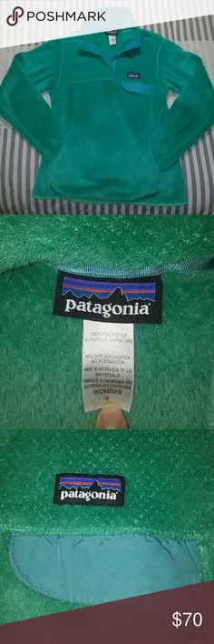 Patagonia Re-Tool Snap T Pullover W's size small fleece Pullover. Teal/turquoise color. From pet & smoke free home. Patagonia Other