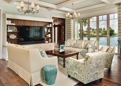 coastal family room | Stofft Cooney Architects